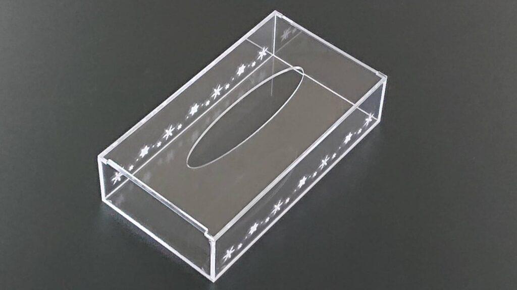 アクリル製ティッシュボックス03
