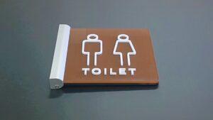 トイレ突出しサイン